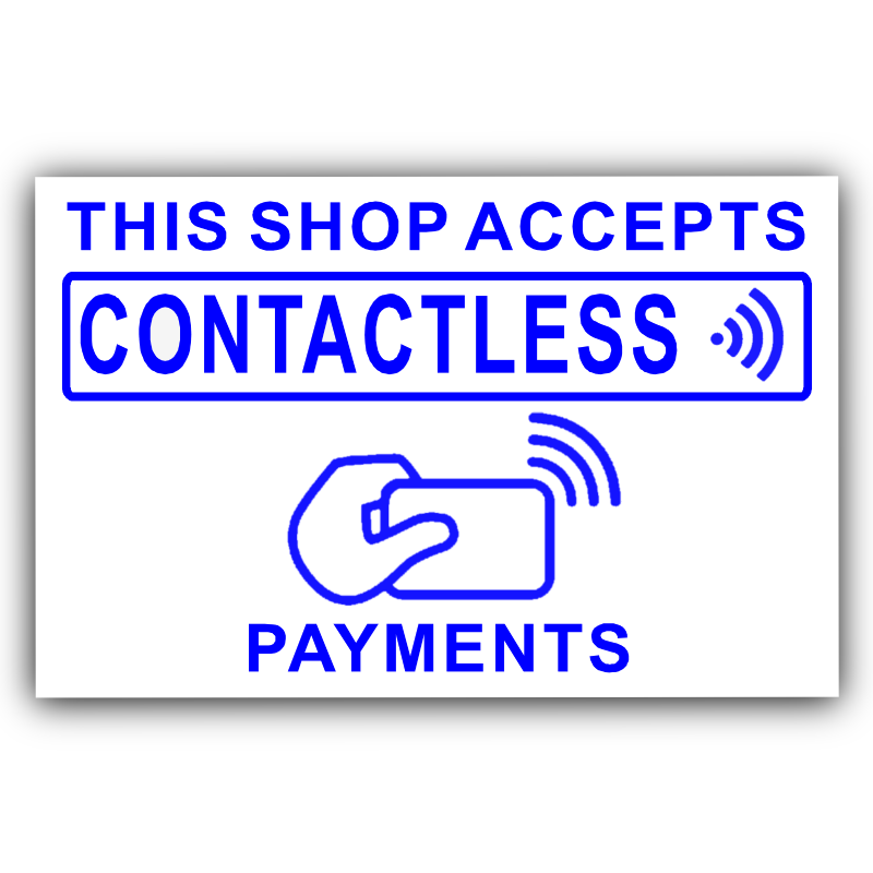 Contactless Card Payments Accepted-Sticker,Shop,Till,Pay,Sign,Notice,Taxi